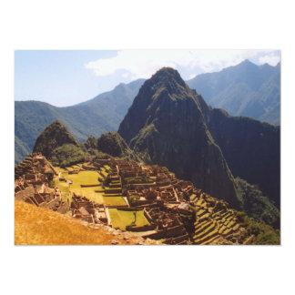 Machu Picchu Peru - Machu Picchu Ruins Sunrise 14 Cm X 19 Cm Invitation Card