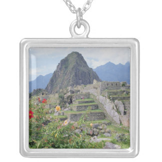 Machu Picchu, Peru Silver Plated Necklace