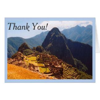 Machu Picchu Peru - South America Thank You Card