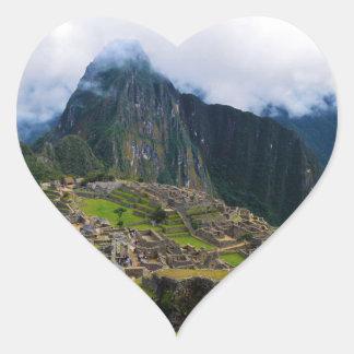 Machu Picchu, Peru Heart Sticker