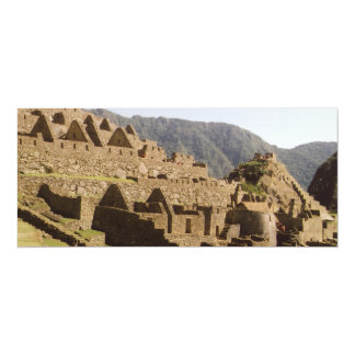 Machu Picchu Peru - Sun Gate View of Ruins 10 Cm X 24 Cm Invitation Card