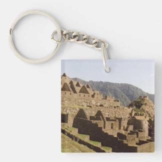 Machu Picchu Peru - Sun Gate View of Ruins Keychains