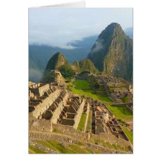 Machu Picchu ruins Card
