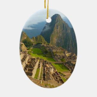 Machu Picchu ruins Christmas Ornament