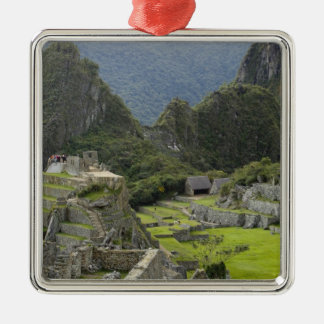 Machu Picchu, ruins of Inca city, Peru. 2 Christmas Ornament