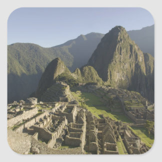 Machu Picchu, ruins of Inca city, Peru. Square Sticker