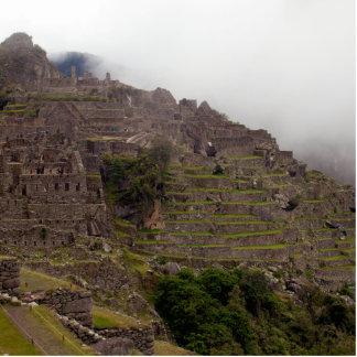 Machu Picchu Ruins, Peru Close Up Standing Photo Sculpture