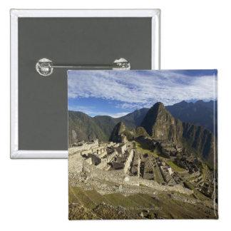 Machu Picchu, UNESCO World Heritage Site, Aguas 15 Cm Square Badge