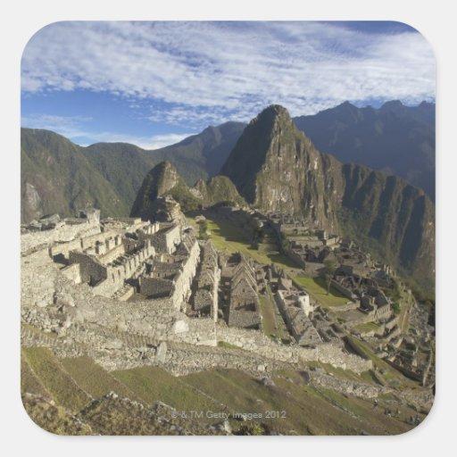 Machu Picchu, UNESCO World Heritage Site, Aguas Square Sticker
