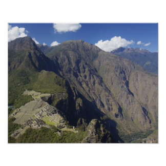 Machu Picchu viewed from Huayna Picchu, UNESCO Poster