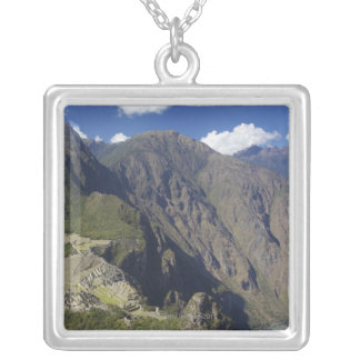 Machu Picchu viewed from Huayna Picchu, UNESCO Silver Plated Necklace