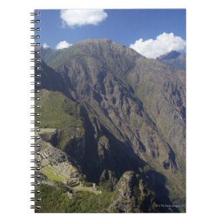 Machu Picchu viewed from Huayna Picchu, UNESCO Spiral Notebook