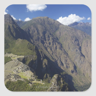 Machu Picchu viewed from Huayna Picchu, UNESCO Square Sticker