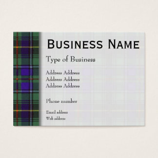 Macinnes clan Plaid Scottish tartan Business Card