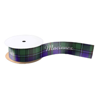 Macinnes clan Plaid Scottish tartan Satin Ribbon