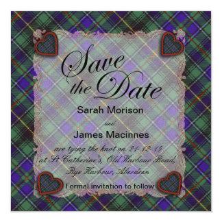 Macinnes Scottish clan tartan - Plaid Card