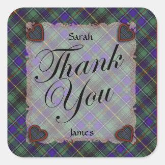 Macinnes Scottish clan tartan - Plaid Stickers