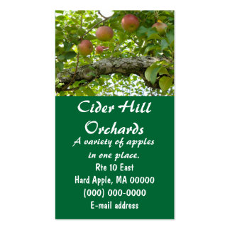 Macintosh Apples In A Tree Pack Of Standard Business Cards