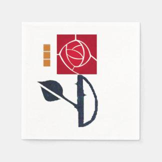 MacIntosh Red Rose Paper Napkins Paper Napkin