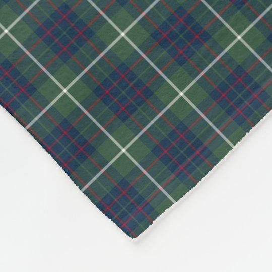 MacIntyre Clan Green Hunting Tartan Fleece Blanket