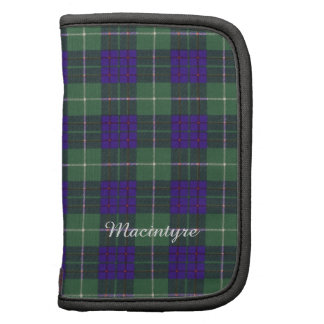 Macintyre clan Plaid Scottish tartan Folio Planner