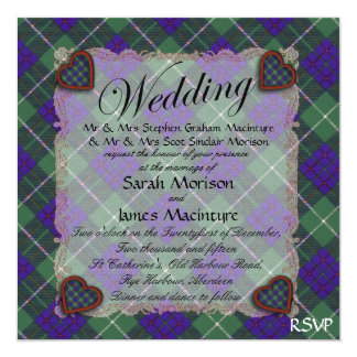 Macintyre Scottish clan tartan - Plaid Card