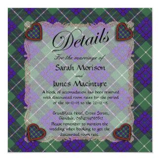 "Macintyre Scottish clan tartan - Plaid 5.25"" Square Invitation Card"