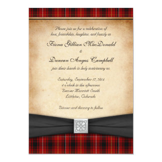 MacIver Tartan Celtic Scottish Wedding Invitation