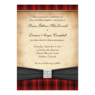 MacIver Tartan Celtic Scottish Wedding Invitation