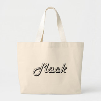 Mack Classic Retro Name Design Jumbo Tote Bag