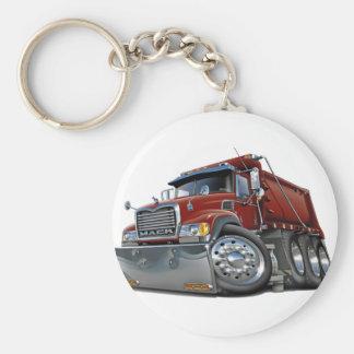 Mack Dump Truck Maroon Basic Round Button Key Ring