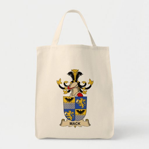 Mack Family Crest Tote Bags