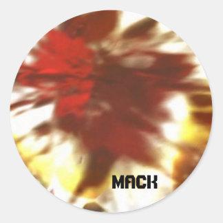 Mack Goes Bye-Bye Round Sticker