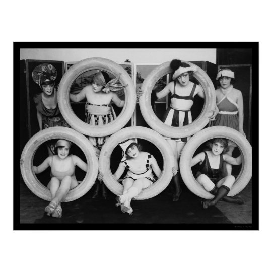 Mack Sennett Bathing Beauties 1922 Poster
