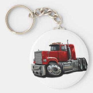 Mack Superliner Red Truck Basic Round Button Key Ring