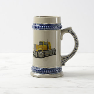 Mack Superliner Yellow Truck Beer Steins