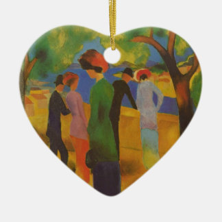 Mack: Woman in a Green Jacket Ceramic Heart Decoration