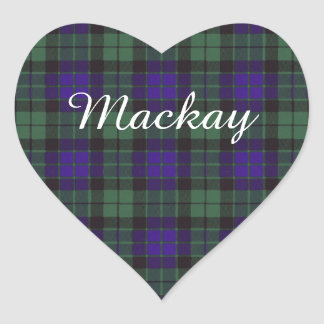 Mackay clan Plaid Scottish tartan Heart Sticker