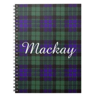 Mackay clan Plaid Scottish tartan Notebook