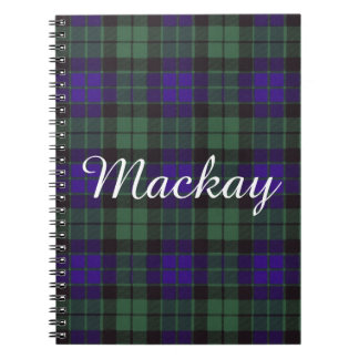 Mackay clan Plaid Scottish tartan Notebooks