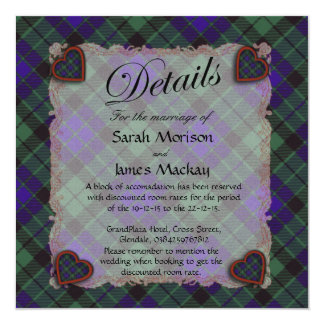 Mackay Scottish clan tartan - Plaid 13 Cm X 13 Cm Square Invitation Card