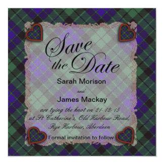 Mackay Scottish clan tartan - Plaid Card