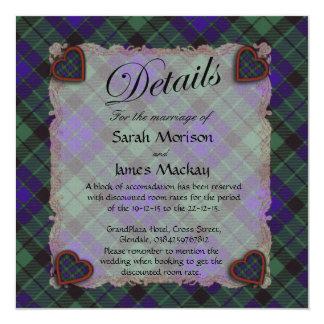 "Mackay Scottish clan tartan - Plaid 5.25"" Square Invitation Card"
