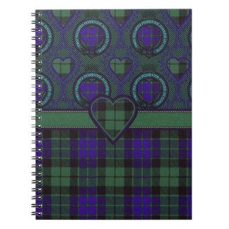 Mackay Scottish clan tartan - Plaid Notebook