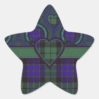 Mackay Scottish clan tartan - Plaid Star Stickers
