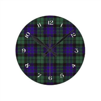 Mackay Scottish Tartan Round Clock