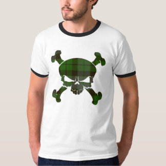 MacKay Tartan Skull No Banner T-Shirt