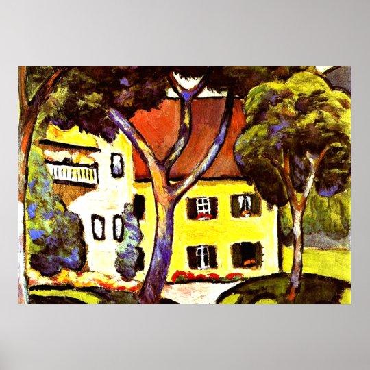 Macke - Staudacher's House at Tegernsee Poster