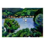Macke - View of Tegernsee Poster