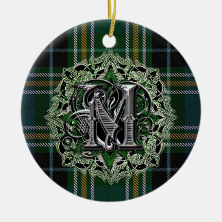 MacKellar Clan Plaid Monogram ornament